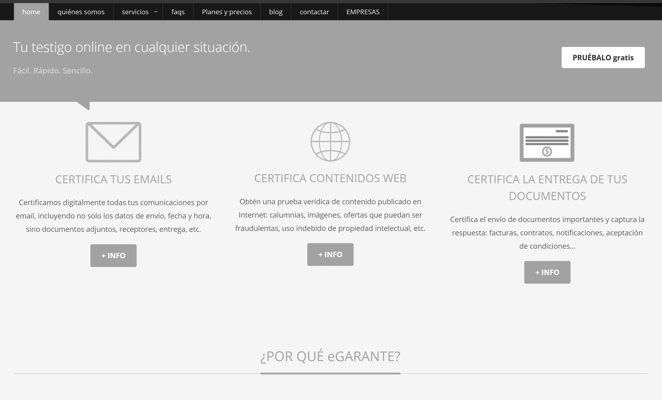 Página web de eGarante